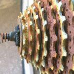ライトウェイ ファータイル2011復活計画 タイヤとサドルを外してみる